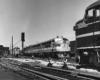 Diesel locomotives in yard
