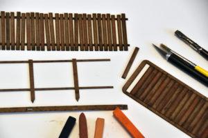O scale wood fence kit by TW Tranworx