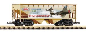 Hopper with decals on side
