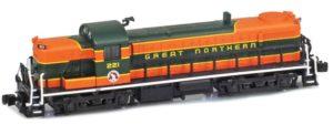 Orange and green train