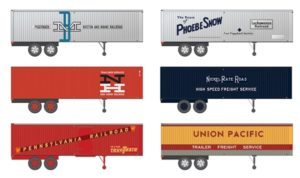 Six truck trailers