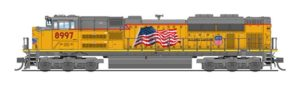 Yellow diesel locomotive