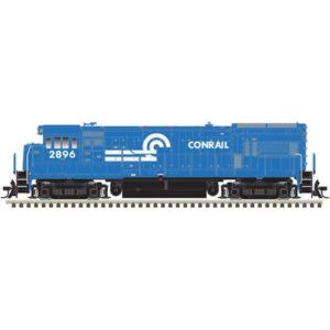Blue diesel locomotive