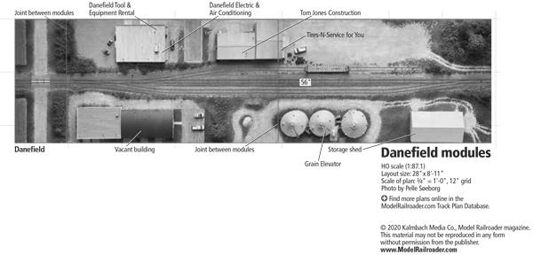 HO scale Danefield modules