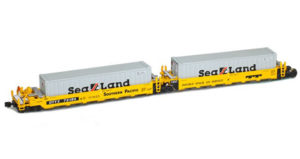American Z Line Z scale Gunderson Maxi-I five-unit articulated well car