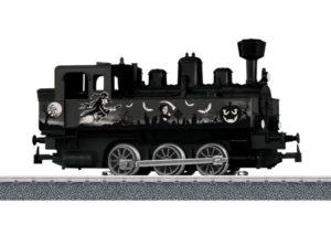 Steam locomotive with Halloween decals