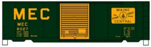 Green and yellow boxcar