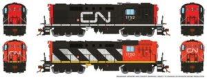 different angles of a diesel locomotive