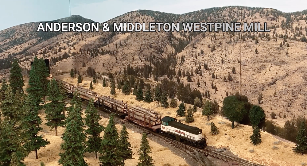 Logging railroad operations at Westpine on the Oregon Joint Line