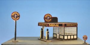 Model of a gas station