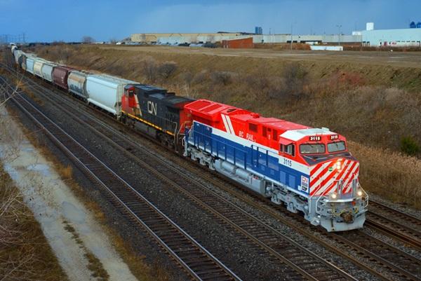Canadian National's BC Rail heritage diesel
