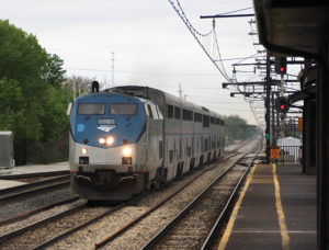 City of New Orleans hurries through Matteson, Ill., on May 21, 2020