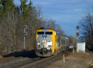 Westbound VIA train No. 71