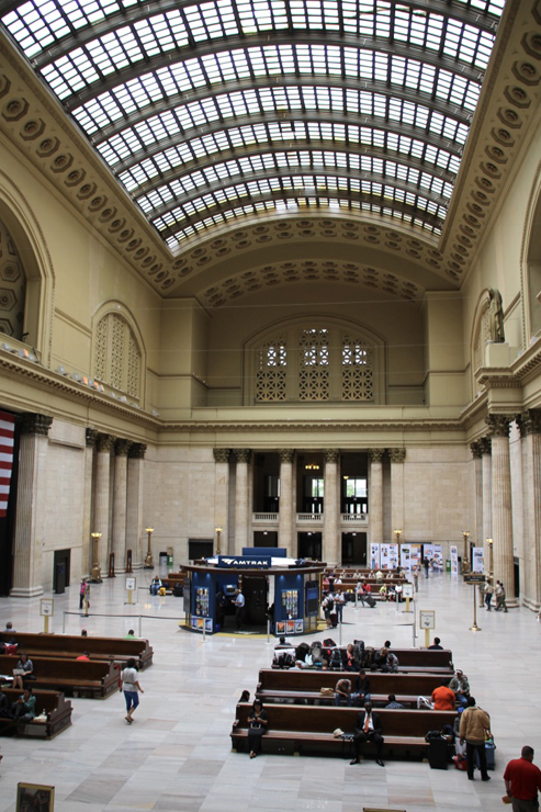 Lobby of a train station