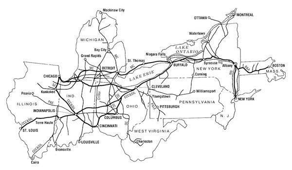 Map of New York Central System