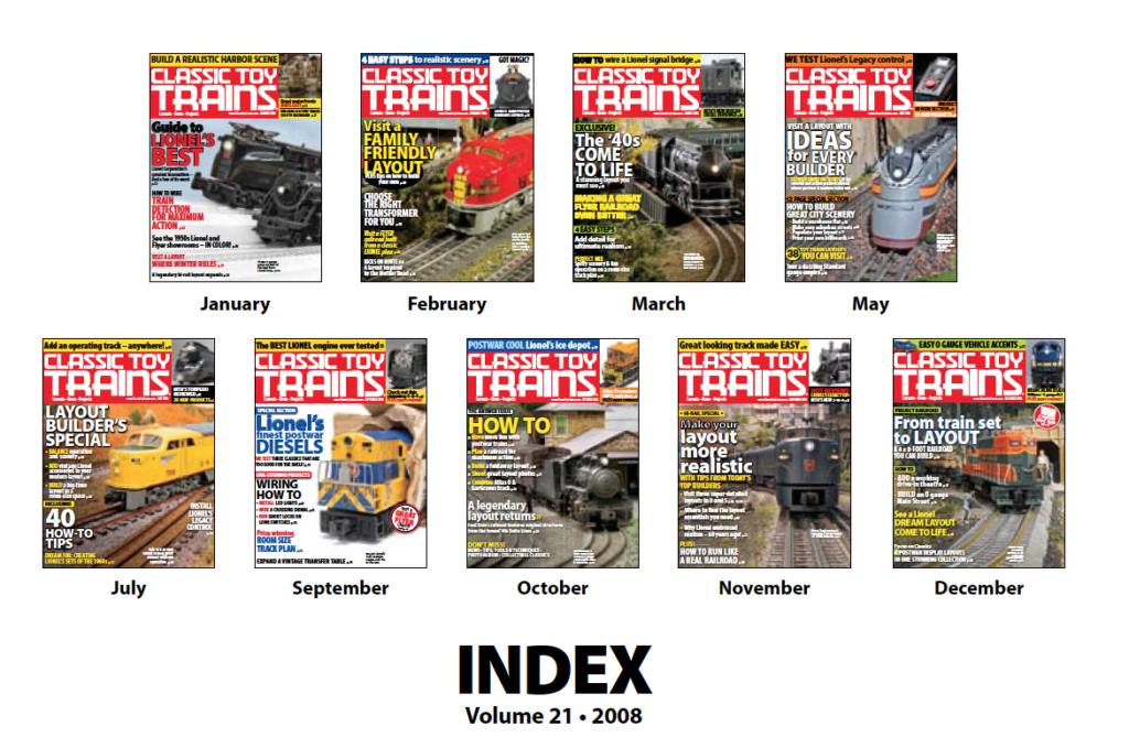 CTT annual index 2008 screenshot