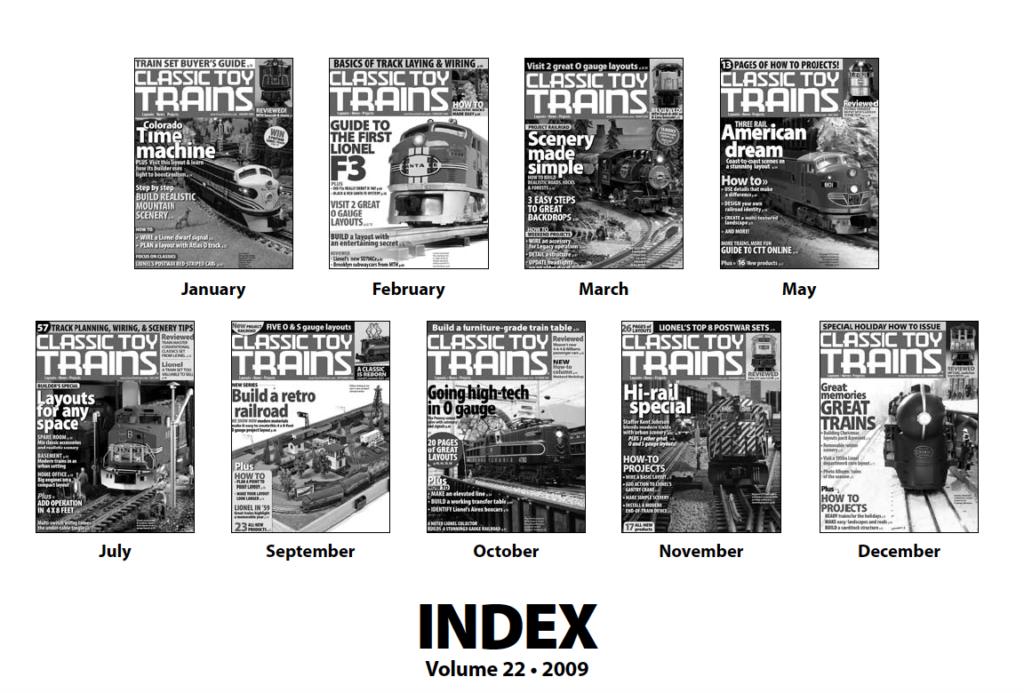 CTT annual index 2009 screenshot