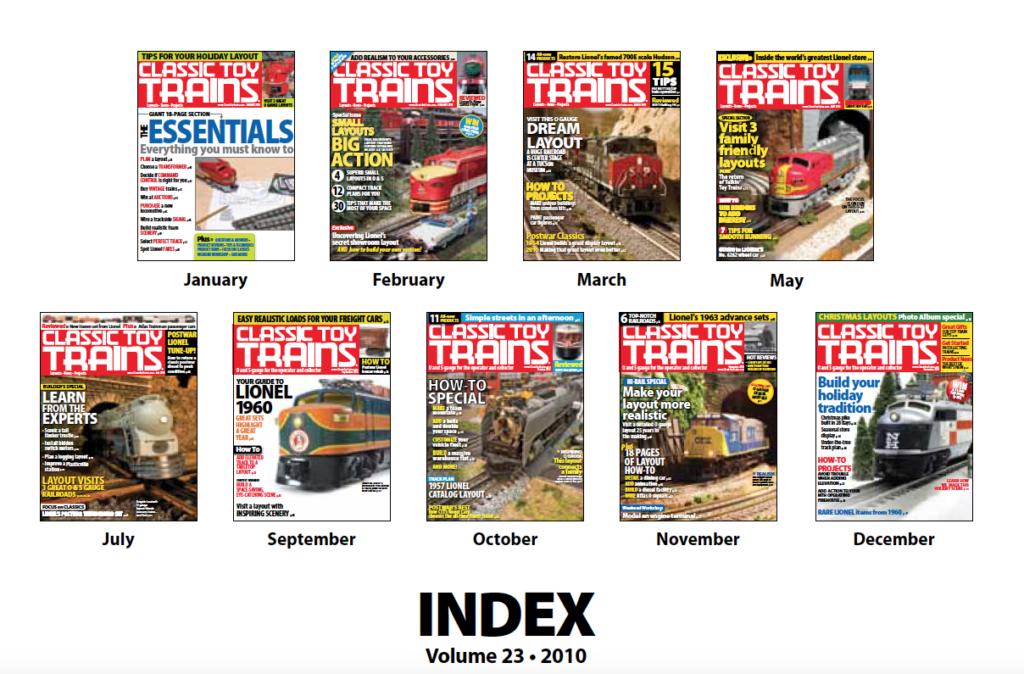 CTT annual index 2010 screenshot