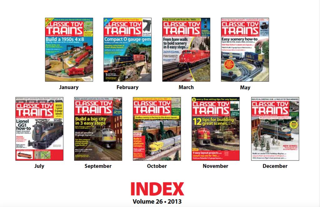 CTT annual index 2013 screenshot