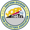The Eastern Division of the Train Collectors Association logo
