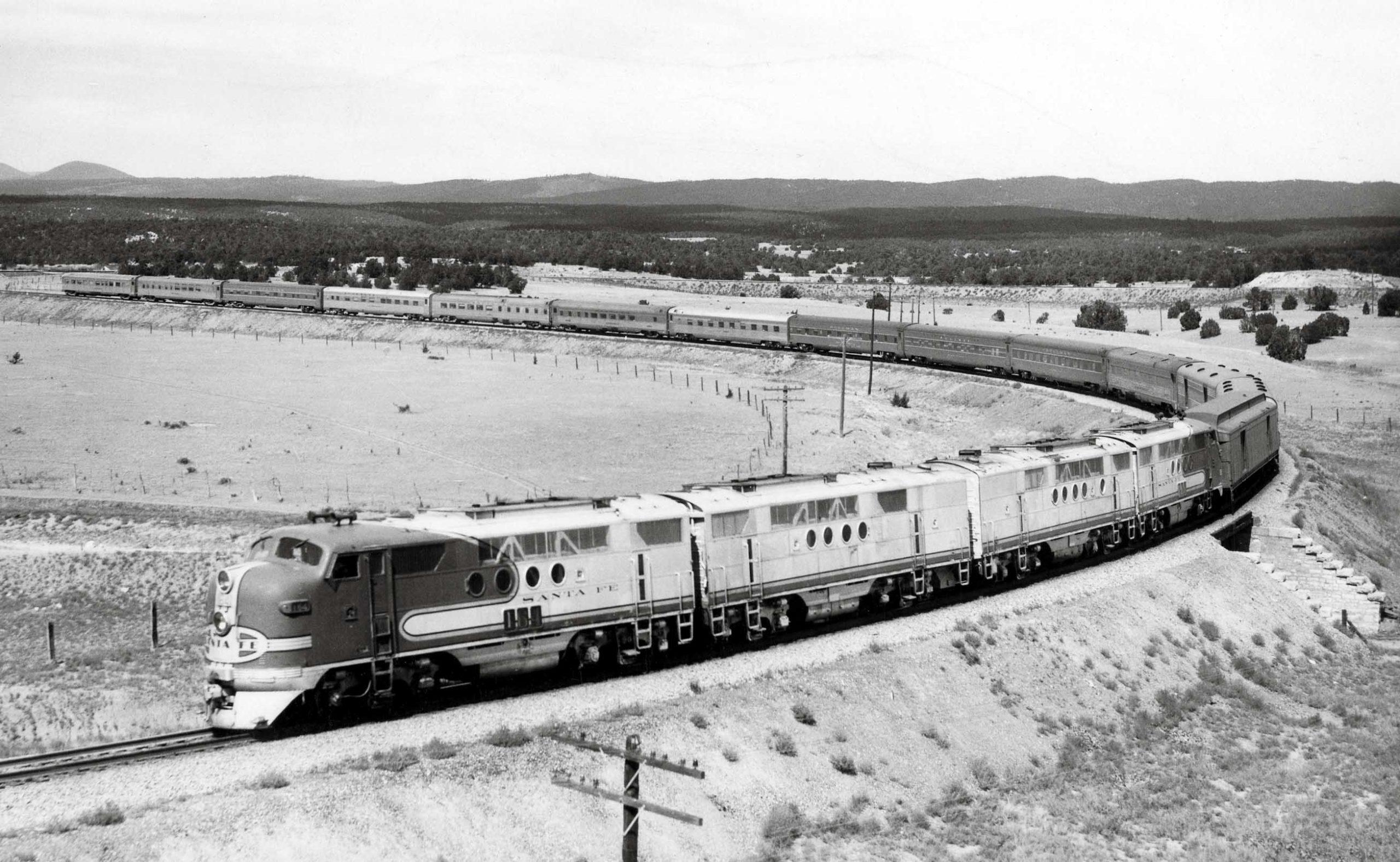 Rear of Santa Fe Chief passenger train