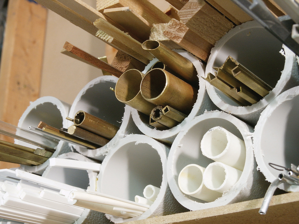 Bins of PVC and other raw materials