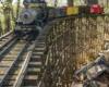 Adams' and Charlie Schleevogt's garden railroad