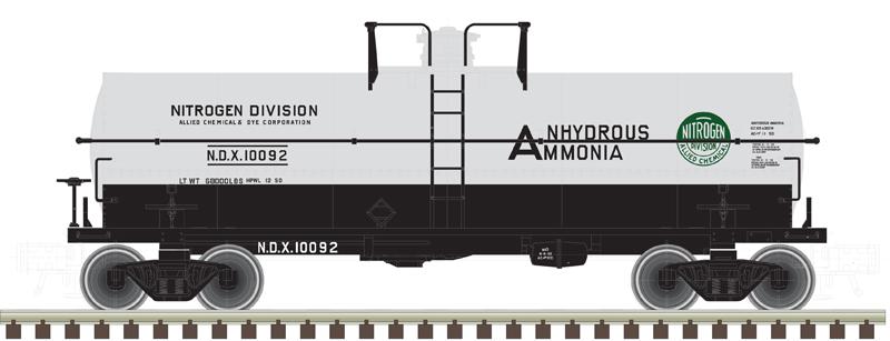 Atlas O American Car & Foundry Allied Chemical 11,000-gallon tank car no. 10092
