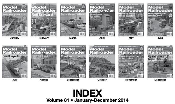 Model railroader 2014 index