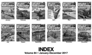 Model Railroader 2017 index