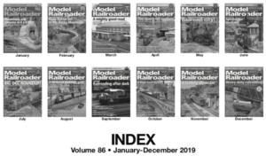 Model Railroader 2019 Index
