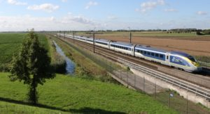 Eurostar in the countryside