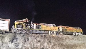 Wreckage of train explosion