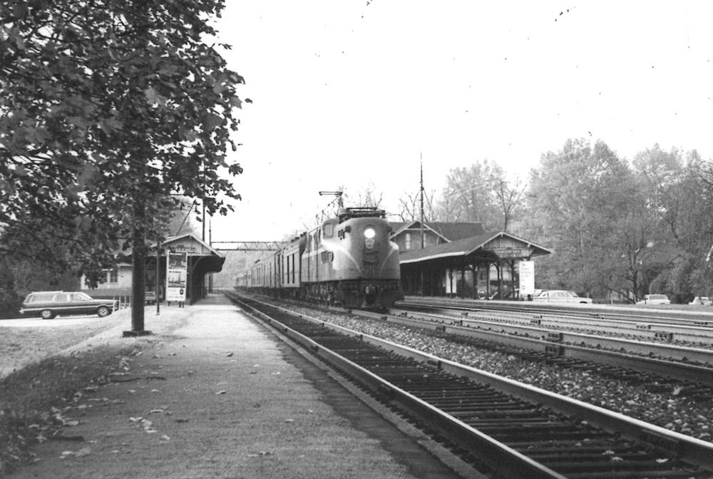 Pennsylvania Railroad GG1 travels near Philadelphia