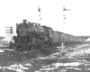 Steam locomotive stopped on tracks