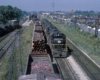 Road-switcher diesel locomotives with freight train