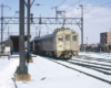 Budd Silverliners inbound to Reading Terminal at Wayne Junction, February 1974.