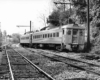 Budd RDCs on SEPTA Philadelphia–Newtown train 1884 at Cheltenham Junction, Pa., May 1981, just before end of service.