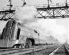 Jersey City–Philadelphia Crusader, westbound at Roselle, N.J., on Jersey Central tracks, 1940s.