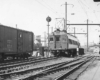 M.U. train on a Chestnut Hill local inbound at Wayne Junction, late 1940s.