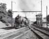 Philadelphia–Jersey City hourly train eastbound at Jenkintown, Pa., August 1946.