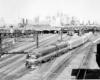 Jersey City–Philadelphia Crusader departing Jersey City on CNJ tracks, 1950s.