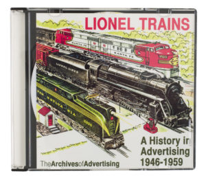 McBride/Publisher Lionel Trains: A History in Advertising, 1946-1959 CD-ROM cover