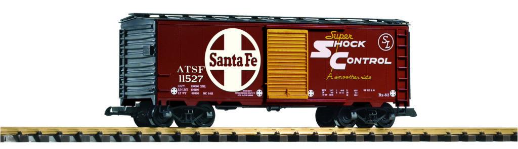 PIKO America large scale Atchison, Topeka & Santa Fe boxcar no. 11527