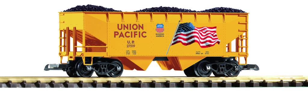 PIKO America Union Pacific two-bay offset-side hopper no. 27519