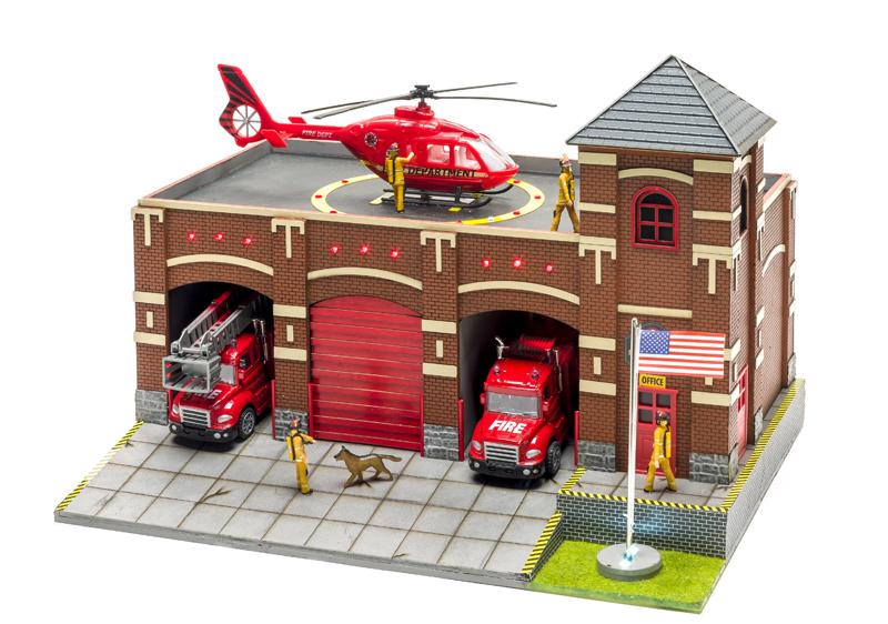 Menards O gauge fire station no. 9