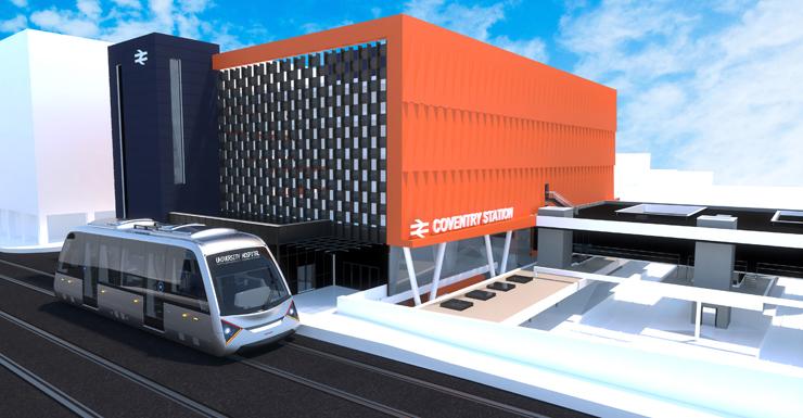 Rendering of new transit system