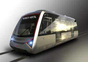 Rendering of new rail transit car