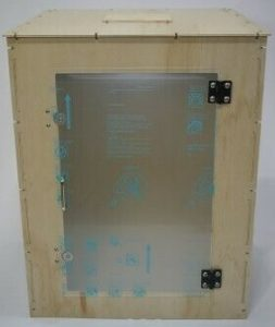 wood and metal 3-D printer enclosure