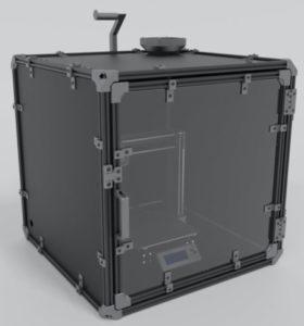 all metal 3-D printer enclosure